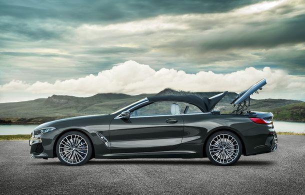 BMW Seria 8 Cabrio, poze și informații oficiale: motorizări de până la 530 CP și 15 secunde pentru plierea plafonului din material textil - Poza 16