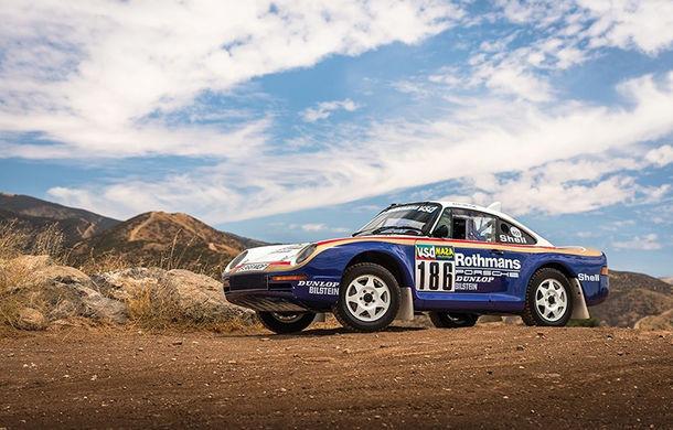 Un Porsche 959 care a concurat în Paris - Dakar 1985 a fost scos la licitație: modelul constructorului german a fost vândut cu peste 5 milioane de euro - Poza 1