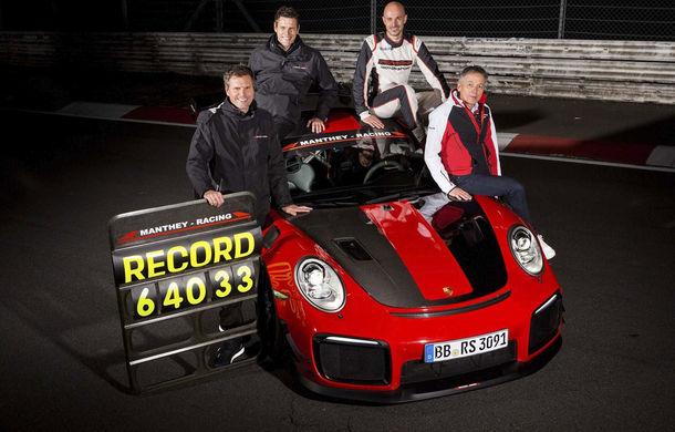 Porsche 911 GT2 RS MR a devenit cel mai rapid model de stradă de pe Nurburgring: modelul german a fost mai rapid decât Aventador SVJ cu aproape 5 secunde - Poza 3