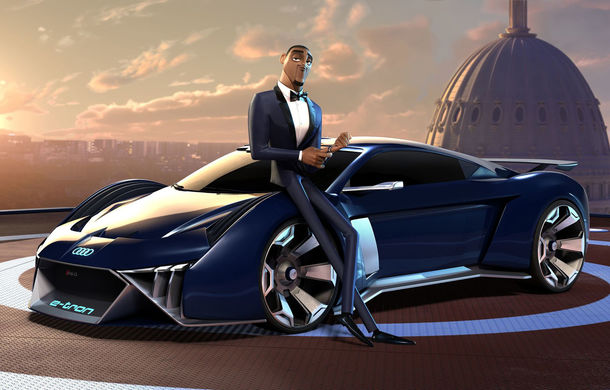 Audi RSQ e-tron: model electric virtual dezvoltat pentru filmul de animație Spies in Disguise - Poza 1