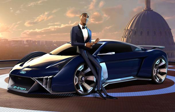 Inovație Audi: noul concept electric RSQ e-tron, prezentat exclusiv în filmul de animație Spies in Disguise - Poza 1