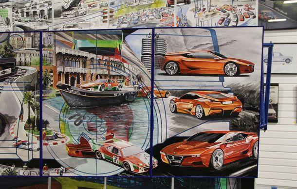 Istoria lui BMW M1, recreată prin picturi cu cafea de un artist român: instalația de artă a fost prezentată în premieră în SUA - Poza 6