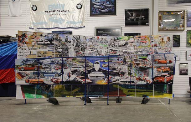 Istoria lui BMW M1, recreată prin picturi cu cafea de un artist român: instalația de artă a fost prezentată în premieră în SUA - Poza 2