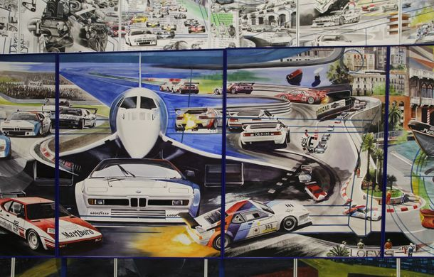 Istoria lui BMW M1, recreată prin picturi cu cafea de un artist român: instalația de artă a fost prezentată în premieră în SUA - Poza 5