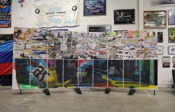 Istoria lui BMW M1, recreată prin picturi cu cafea de un artist român: instalația de artă a fost prezentată în premieră în SUA - Poza 3