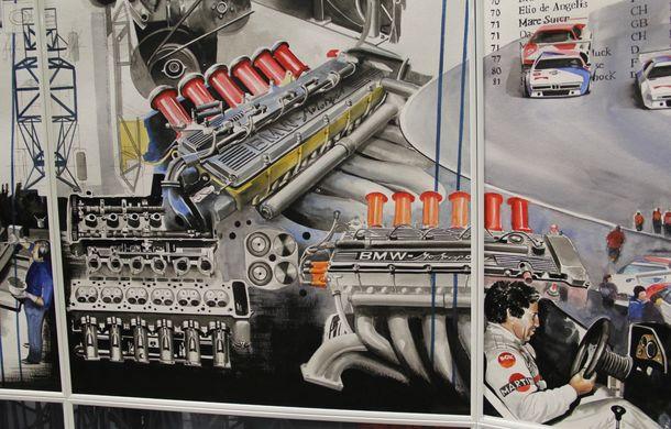 Istoria lui BMW M1, recreată prin picturi cu cafea de un artist român: instalația de artă a fost prezentată în premieră în SUA - Poza 9