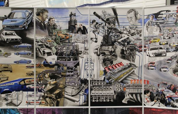 Istoria lui BMW M1, recreată prin picturi cu cafea de un artist român: instalația de artă a fost prezentată în premieră în SUA - Poza 7