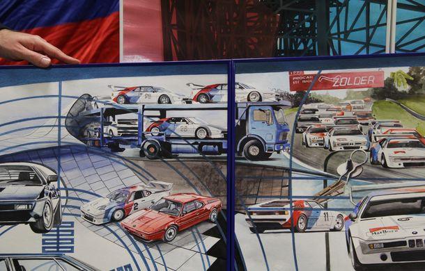 Istoria lui BMW M1, recreată prin picturi cu cafea de un artist român: instalația de artă a fost prezentată în premieră în SUA - Poza 11