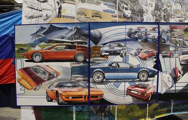 Istoria lui BMW M1, recreată prin picturi cu cafea de un artist român: instalația de artă a fost prezentată în premieră în SUA - Poza 4