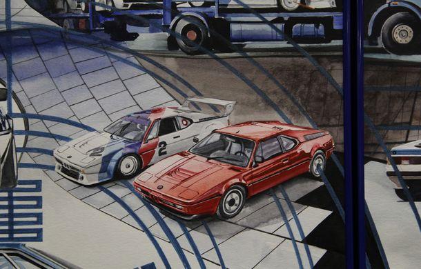 Istoria lui BMW M1, recreată prin picturi cu cafea de un artist român: instalația de artă a fost prezentată în premieră în SUA - Poza 12