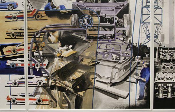 Istoria lui BMW M1, recreată prin picturi cu cafea de un artist român: instalația de artă a fost prezentată în premieră în SUA - Poza 10