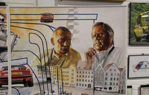 Istoria lui BMW M1, recreată prin picturi cu cafea de un artist român: instalația de artă a fost prezentată în premieră în SUA - Poza 14