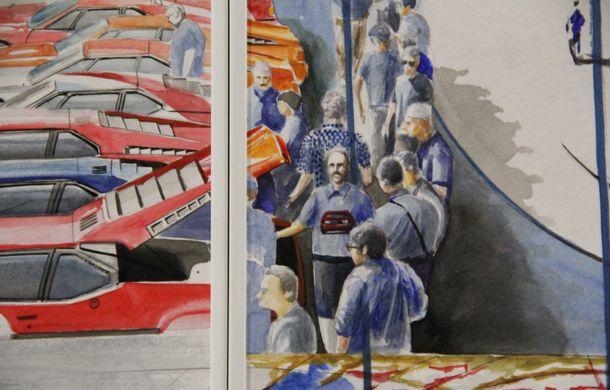 Istoria lui BMW M1, recreată prin picturi cu cafea de un artist român: instalația de artă a fost prezentată în premieră în SUA - Poza 15