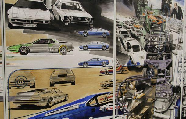 Istoria lui BMW M1, recreată prin picturi cu cafea de un artist român: instalația de artă a fost prezentată în premieră în SUA - Poza 8