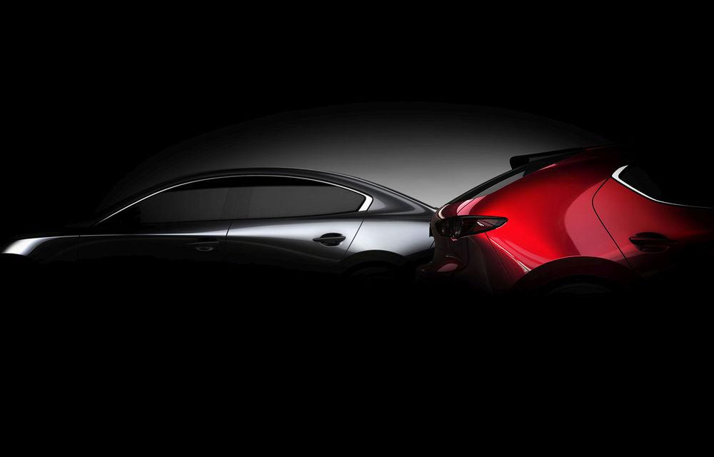 Un nou teaser cu viitoarea generație Mazda 3: modelul niponilor debutează la Los Angeles - Poza 1