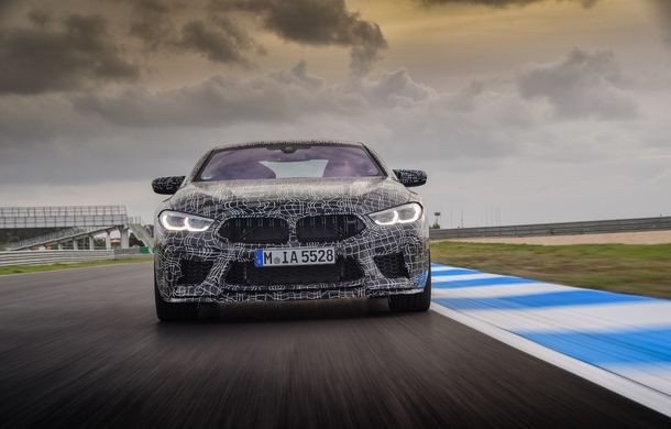 Primele imagini cu viitorul BMW M8 Coupe: motor V8 cu peste 600 CP și tracțiune integrală M xDrive - Poza 6