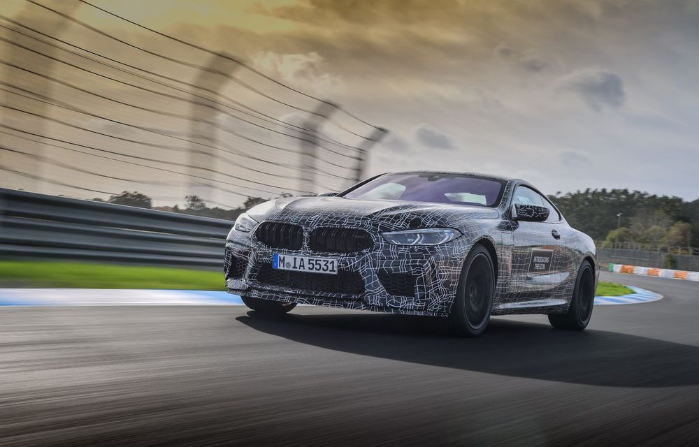 Primele imagini cu viitorul BMW M8 Coupe: motor V8 cu peste 600 CP și tracțiune integrală M xDrive - Poza 13