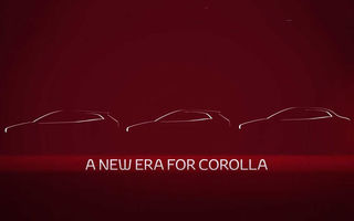 Primul teaser cu noul sedan Toyota Corolla: modelul producătorului nipon debutează în 16 noiembrie