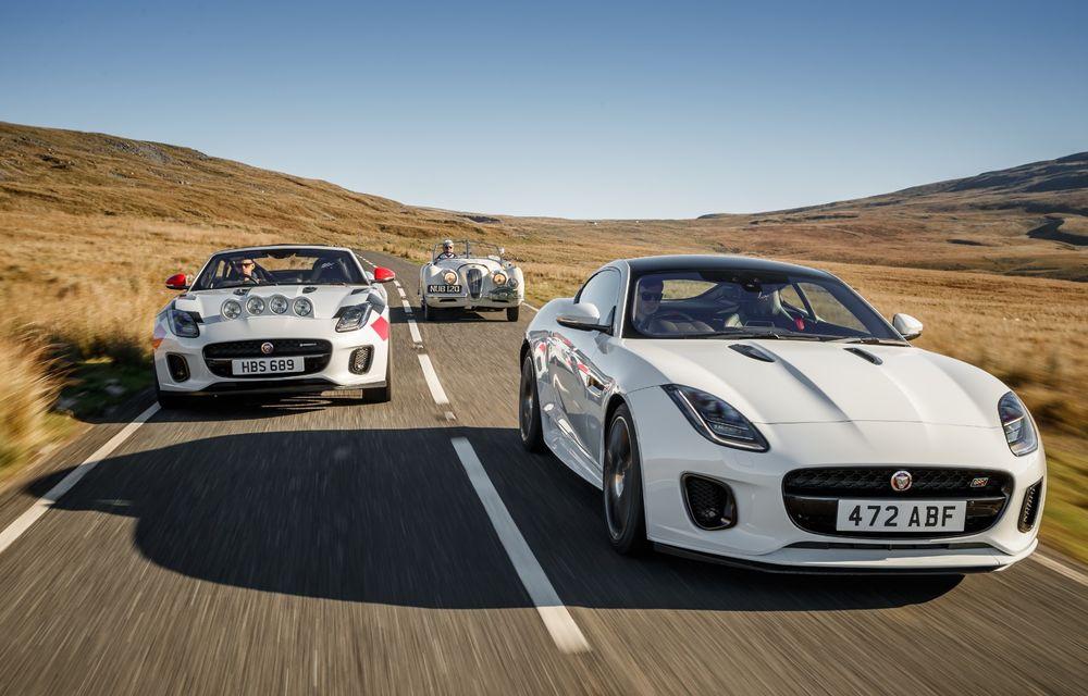 Aniversare în stil britanic: Jaguar a transformat două exemplare F-Type Cabrio în mașini destinate raliurilor pentru a sărbători 70 de ani de la debutul lui XK 120 - Poza 12