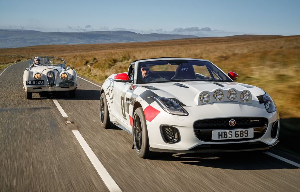 Aniversare în stil britanic: Jaguar a transformat două exemplare F-Type Cabrio în mașini destinate raliurilor pentru a sărbători 70 de ani de la debutul lui XK 120 - Poza 10