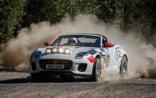 Aniversare în stil britanic: Jaguar a transformat două exemplare F-Type Cabrio în mașini destinate raliurilor pentru a sărbători 70 de ani de la debutul lui XK 120