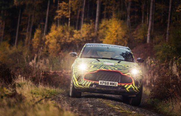 Aston Martin a început testele cu primul său SUV: numele DBX a fost confirmat oficial - Poza 4