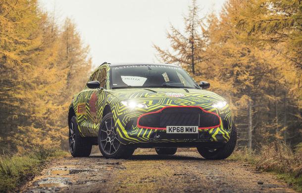 Aston Martin a început testele cu primul său SUV: numele DBX a fost confirmat oficial - Poza 1