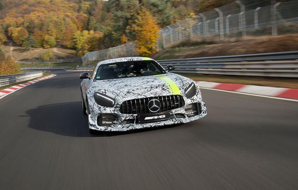 Prima imagine cu viitorul Mercedes-AMG GT R Pro: ediția limitată debutează la Los Angeles - Poza 1