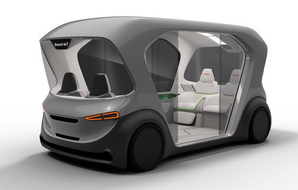 Soluție germană pentru transportul urban: Bosch a dezvoltat conceptul unui shuttle electric și autonom - Poza 4