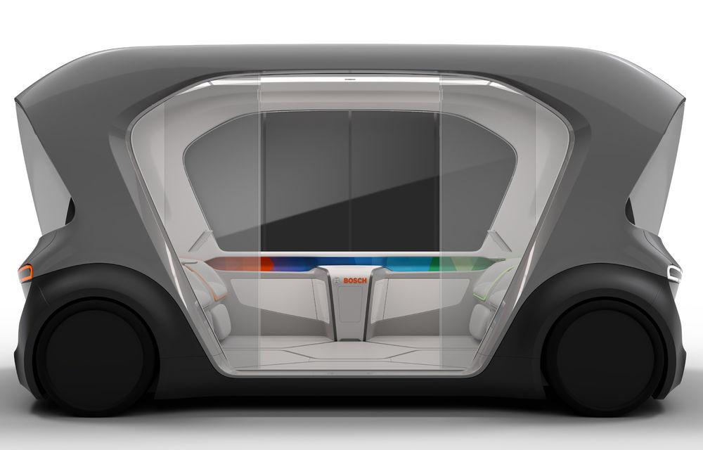 Soluție germană pentru transportul urban: Bosch a dezvoltat conceptul unui shuttle electric și autonom - Poza 5