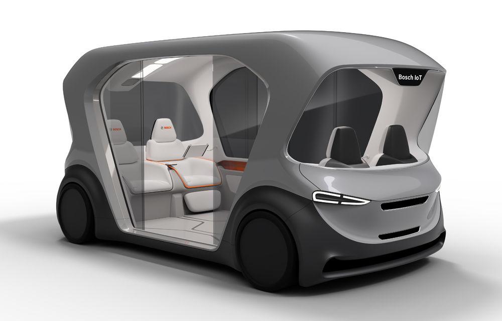 Soluție germană pentru transportul urban: Bosch a dezvoltat conceptul unui shuttle electric și autonom - Poza 2