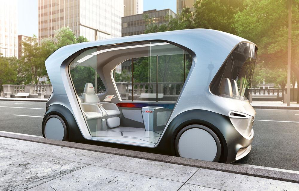 Soluție germană pentru transportul urban: Bosch a dezvoltat conceptul unui shuttle electric și autonom - Poza 1