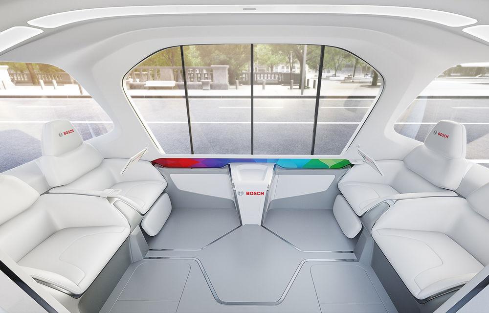 Soluție germană pentru transportul urban: Bosch a dezvoltat conceptul unui shuttle electric și autonom - Poza 7