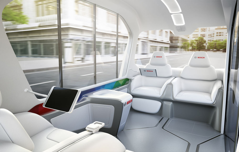Soluție germană pentru transportul urban: Bosch a dezvoltat conceptul unui shuttle electric și autonom - Poza 6