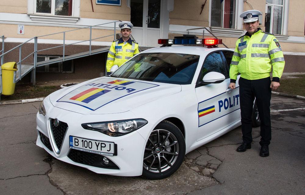 Poliția Rutieră Ilfov a primit un Alfa Romeo Giulia: modelul italian va patrula 12 luni pe autostrada A3, Drumul Național 1 și Centura Bucureștiului - Poza 1