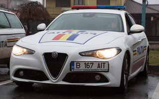 Poliția Rutieră Constanța a primit un Alfa Romeo Giulia: sedanul producătorului italian va fi utlizat timp de 12 luni în misiuni de patrulare