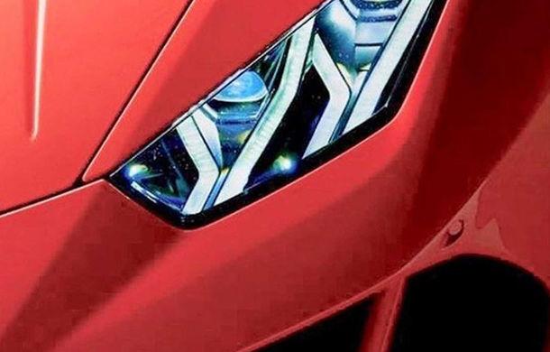 Prima imagine teaser cu viitorul Lamborghini Hurcan facelift: modificări estetice discrete și mici îmbunătățiri la nivelul performanțelor - Poza 1