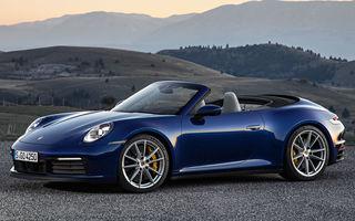 Porsche 911 Cabrio, imagini și informații oficiale: motor de 450 CP și 12 secunde pentru plierea plafonului din material textil