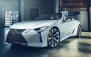 Primele imagini cu Lexus LC Convertible Concept: prototipul niponilor va fi expus la Detroit și anunță o versiune de serie