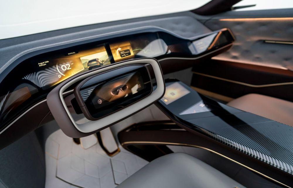 Noi imagini oficiale cu Infiniti QX Inspiration: conceptul prefigurează lansarea unui crossover electric - Poza 16