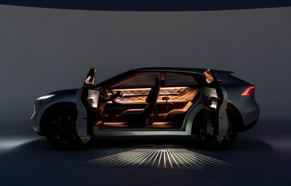 Noi imagini oficiale cu Infiniti QX Inspiration: conceptul prefigurează lansarea unui crossover electric - Poza 12