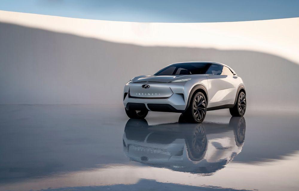 Noi imagini oficiale cu Infiniti QX Inspiration: conceptul prefigurează lansarea unui crossover electric - Poza 2