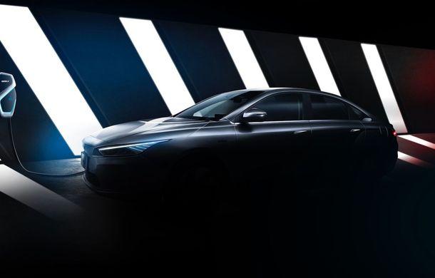 Primul teaser cu viitorul sedan electric de la Geely: modelul va fi lansat în 2019 și vândut în toată lumea - Poza 1