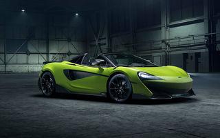 McLaren 600LT Spider: design exterior modificat, masă totală redusă și 2.9 secunde pentru sprintul 0-100 km/h
