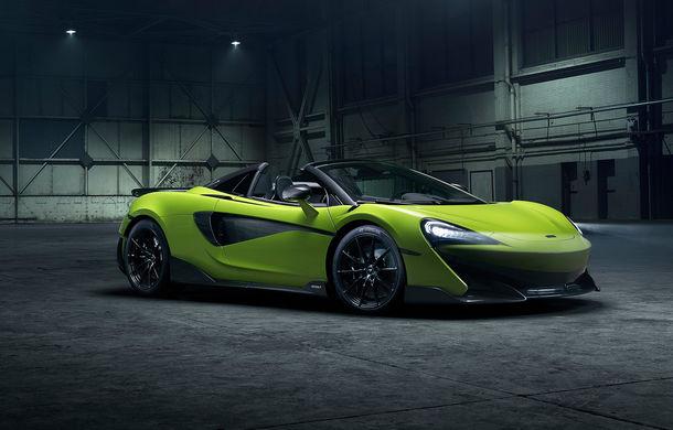 McLaren 600LT Spider: design exterior modificat, masă totală redusă și 2.9 secunde pentru sprintul 0-100 km/h - Poza 1