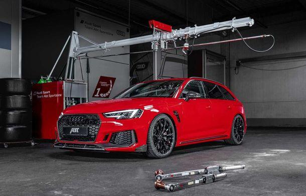 Audi RS4 Avant primește un pachet de performanță semnat de ABT: 530 CP și 680 Nm pentru break-ul german - Poza 8