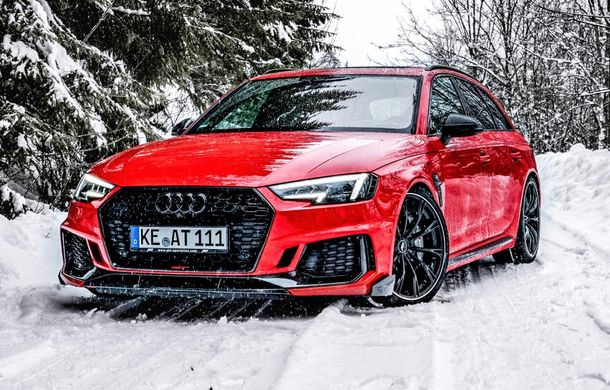Audi RS4 Avant primește un pachet de performanță semnat de ABT: 530 CP și 680 Nm pentru break-ul german - Poza 3