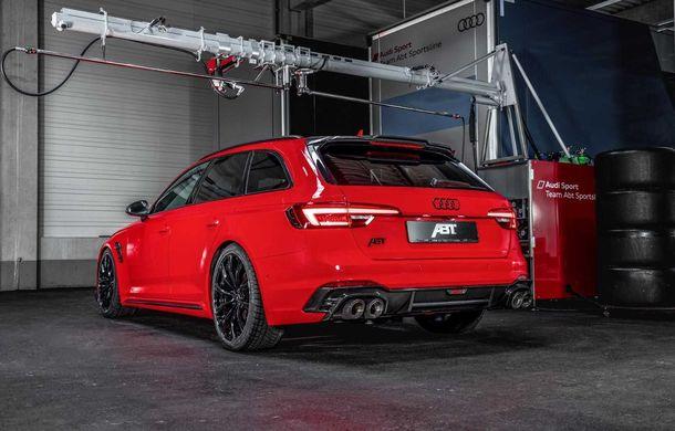 Audi RS4 Avant primește un pachet de performanță semnat de ABT: 530 CP și 680 Nm pentru break-ul german - Poza 9