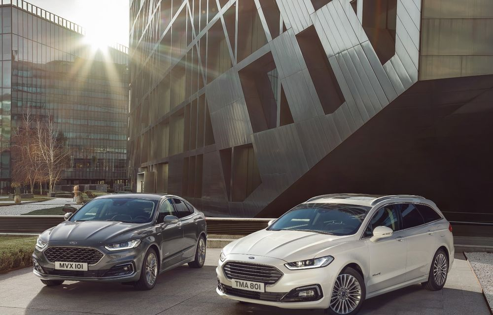Ford Mondeo facelift, poze și informații oficiale: modificări minore la nivel estetic, motorizări îmbunățățite și versiune hibrid pe varianta break - Poza 7