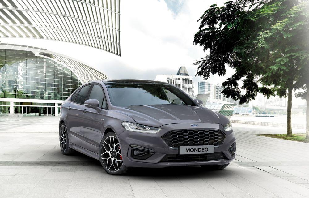 Ford Mondeo facelift, poze și informații oficiale: modificări minore la nivel estetic, motorizări îmbunățățite și versiune hibrid pe varianta break - Poza 2
